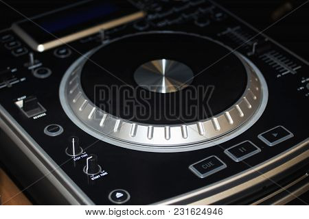 Music Mixing Equipment  In A Dark Background