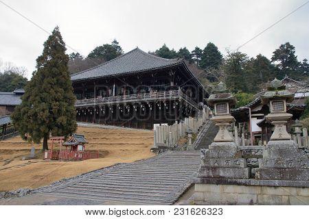 Second Month Hall Of Todai Ji In Nara, Japan