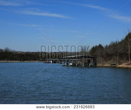 Table Rock Lake, Lampe, Missouri, Ozark Mountains.  Table Rock Lake Is In Southwest Missouri And Nor