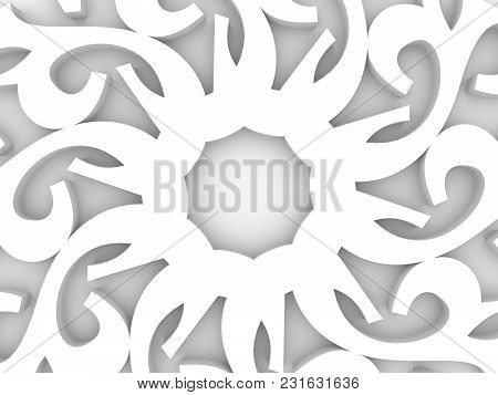 Decorative Design Element. Patterns With Geometric Ornament. Circular Ornamental Symbol. Islam, Arab