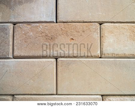 Stone Buried In The Old Wall, Vintage Style Background