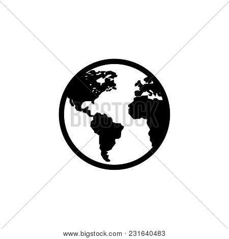 Globe Icon Isolated On White Background. Globe Icon Modern Symbol For Graphic And Web Design. Globe