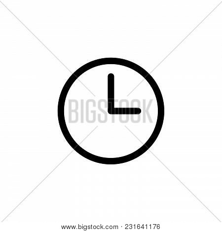 Clock Icon Isolated On White Background. Clock Icon Modern Symbol For Graphic And Web Design. Clock