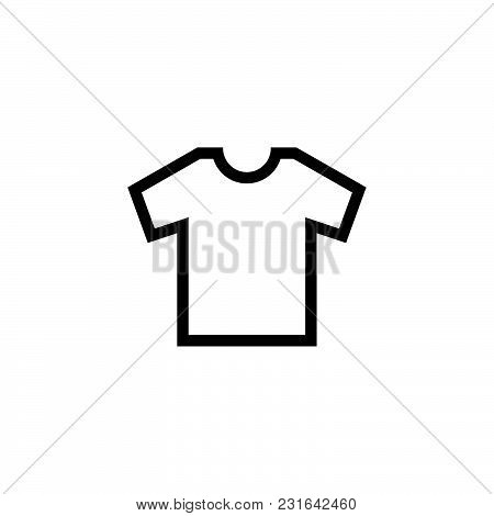 Shirt Icon Isolated On White Background. Shirt Icon Modern Symbol For Graphic And Web Design. Shirt