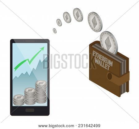 Transfer Ethereum Coins In The  Electronic Wallet, Buying And Transfer Ethereum Coins To  Electronic