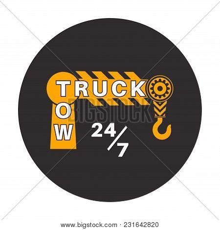 Tow Truck Icon Wrecker Logotip Vector Photo Bigstock