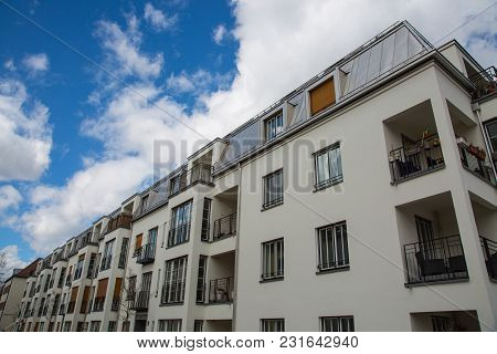 Apartment House In Germany, Nice Residential Area