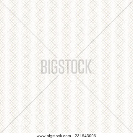 Vector Seamless Pattern. Modern Halftone Texture. Regularly Repeating Linear Grids From Rhombuses Wi