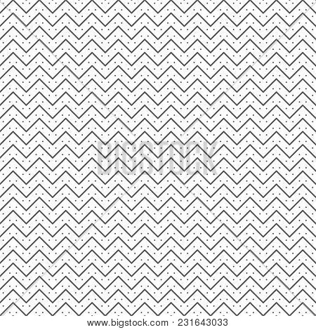Vector Seamless Pattern. Trendy Modern Geometrical Texture With Regularly Repetition Thin Lines Zigz