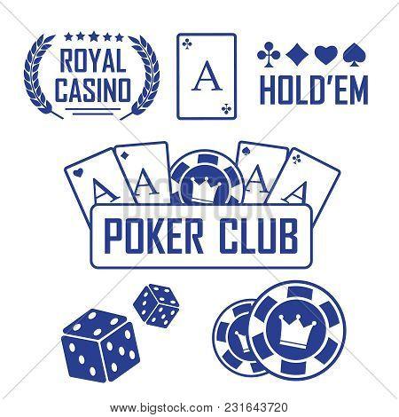 Lucky Seven Jackpot. Casino Vector Sign Set