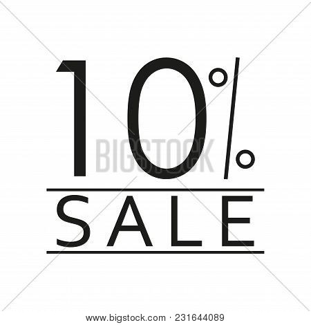 10% Sale. Price Off Icon With 10 Percent Discount. Vector Illustration.