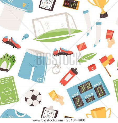 Soccer Vector Footballer Or Soccerplayer In Sportswear Playing With Soccerball On Football Pitch Ill