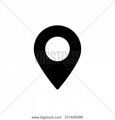 Location Icon Isolated On White Background. Location Icon Modern Symbol For Graphic And Web Design.