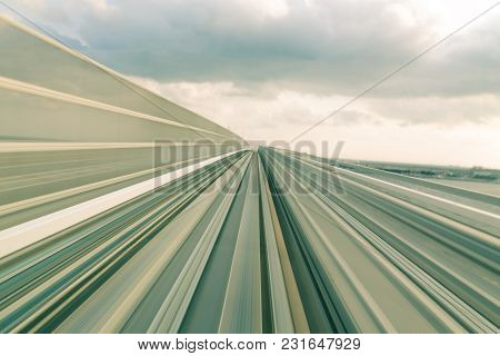 Motion Speed Train Moving Track Abstract Background