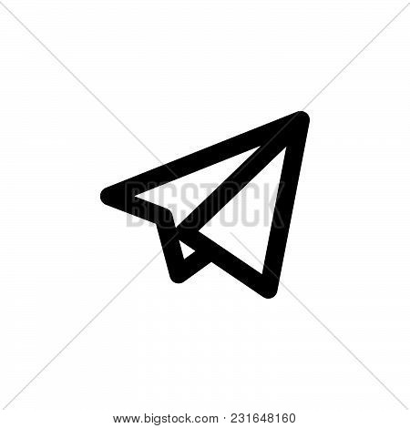 Paper Plane Icon Isolated On White Background. Paper Plane Icon Modern Symbol For Graphic And Web De