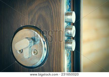 An Open Door Lock At The Home