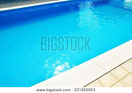 A Blue Water Of Pool In Hotel