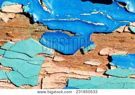 A Peeling Paint Texture As A Background
