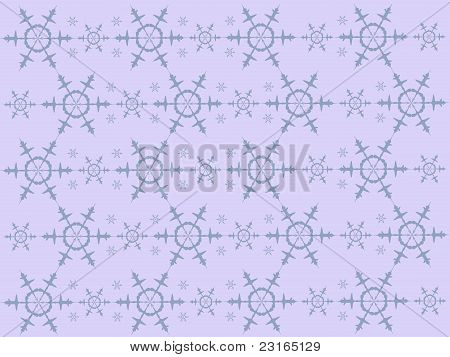 Background with blue snowflakes