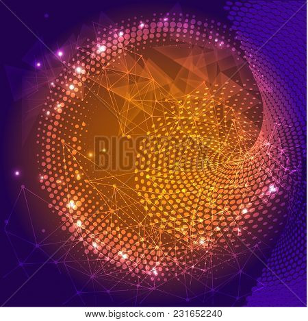 Futuristic Vector Illustration. Hi-tech Digital Technology Concept, Abstract Background For Computer
