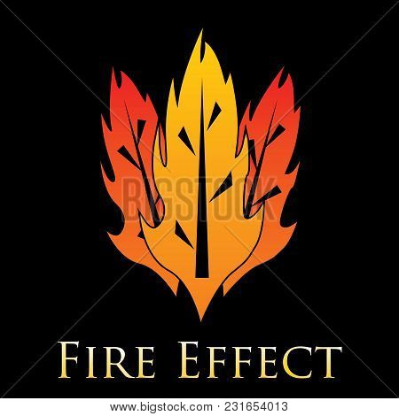 Fire Effects.vector Swirl Trail Effect With Special Light Effect