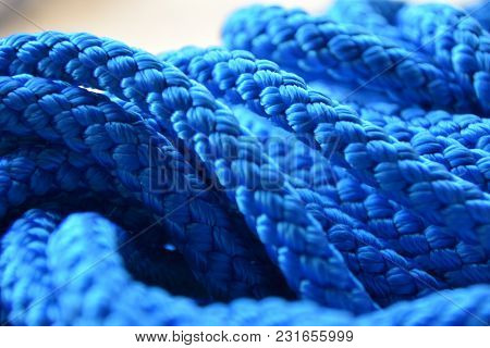Background Texture Rope Synthetic Blue Wicker Many Rows