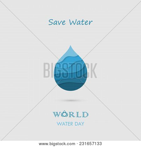 Water Drop With Water Waves Icon Vector Logo Design Template.world Water Day Icon.world Water Day Id