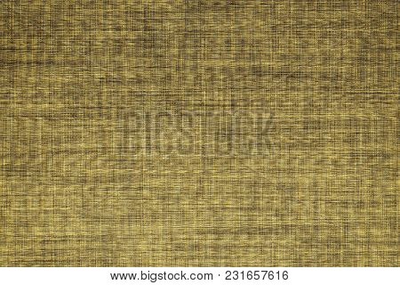 Fabric Surface For Book Cover, Linen Design Element, Grunge Texture, Autumn Maple Color Painted.