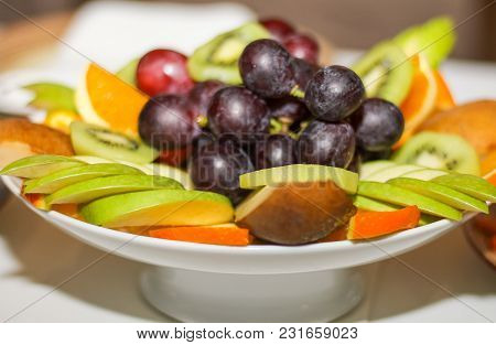 Beautifully Laid Out Fruit In Plate Table Setting