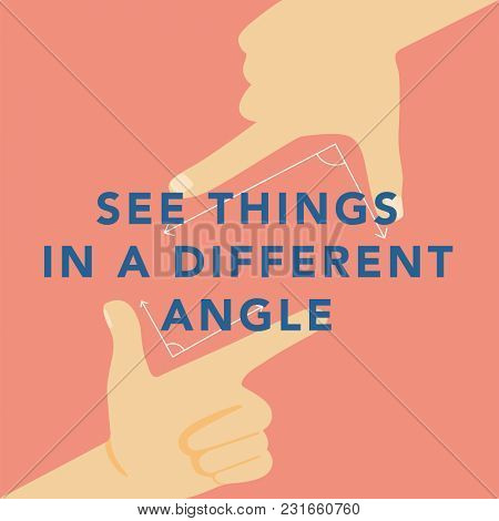 'Exploring different angles' illustrations