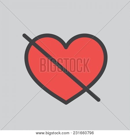 Illustration of heart with line icon