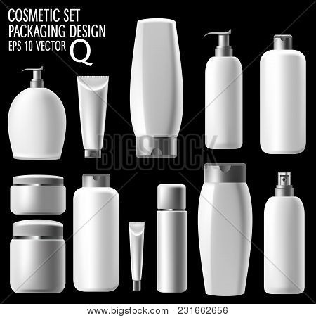 Realistic Cosmetics, Hair Shampoo, Soap And Hand Cream. Promoting Premium Products, Realistic Cosmet