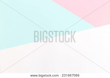 Background Pastel Colors. Multicolored Background Flat Lay
