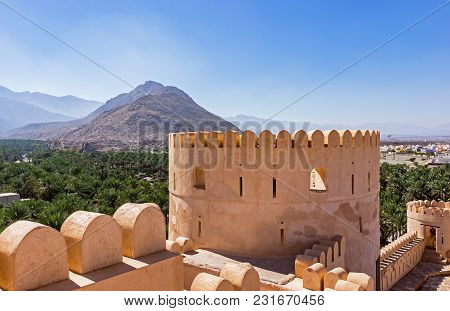 Al Batinah, Oman - December, 07, 2013 - The Nakhl Fort Is A Large Fortification In The Al Batinah Re