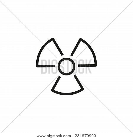 Icon Of Air Conditioner. Fan, Hazard, Cooler. Radiation Concept. Can Be Used For Topics Like Danger,