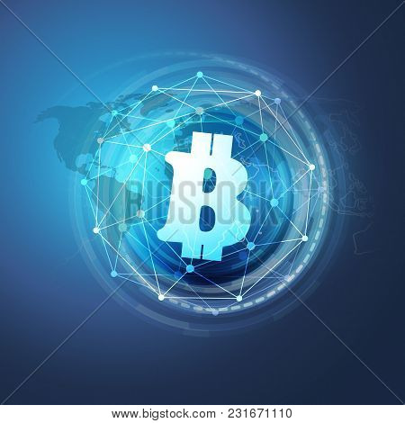 Networks - Business And Global Financial Connections, Cryptocurrency, Bitcoin Trading, Online Bankin