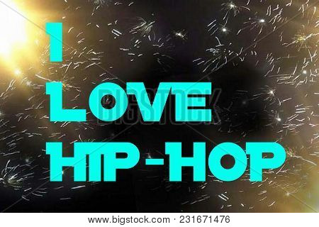 A Cool Phrase With A Digital Firework Abstract Art Background.