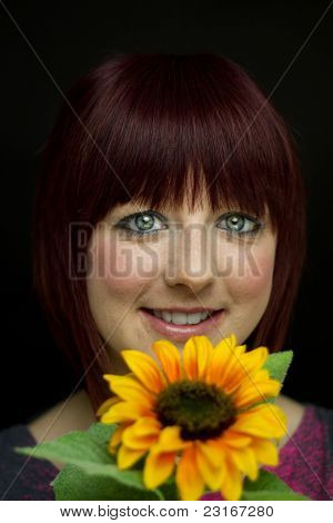 Girl With Sunflower