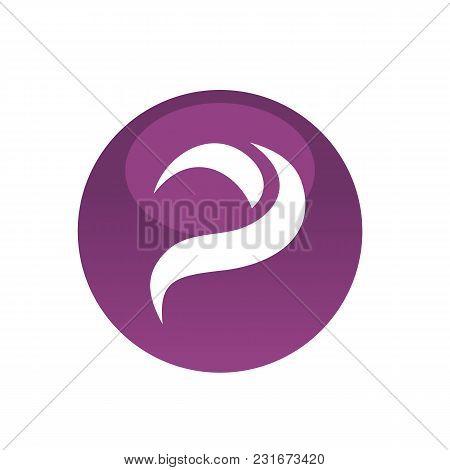Purple Circle Letter Vector Photo Free Trial Bigstock