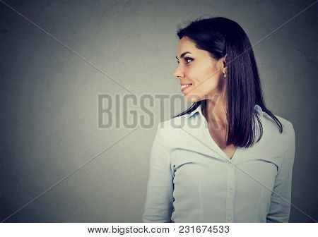 Side Profile Of A Happy Young Woman