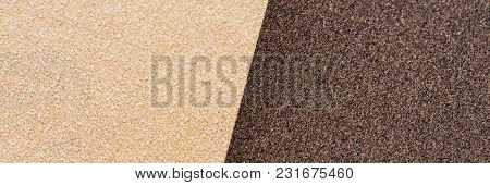 Two Sandpaper Sheets In Bright And Dark, Contrast Background