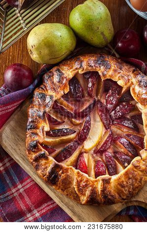 Galette With Pears And Plums