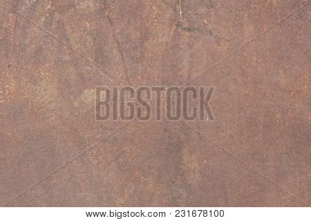 Rusty Grunge Brown Metal Sheet Texture Background