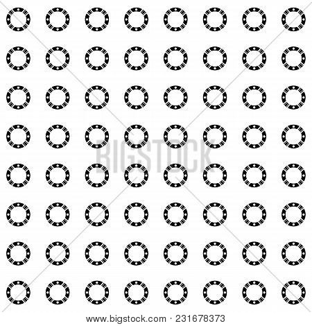 Vector Monochrome Repeat Texture, Black And White Geometric Seamless Pattern With Simple Figures, Ci