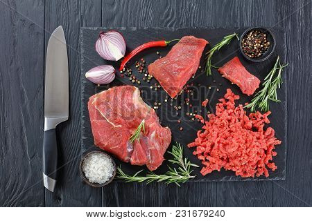Forcemeat And Pieces Of Beef Filet