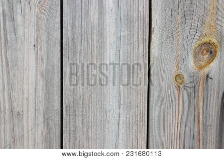 Background Of Old Gray Cracked Wooden Boards