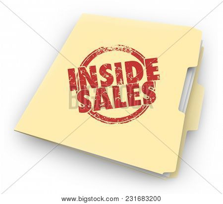 Inside Sales Folder Documents Customer Contracts Selling 3d Illustration