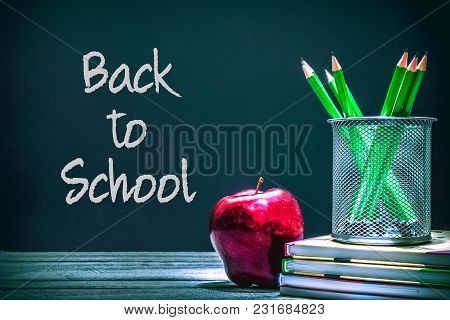 Back To School And Education Concept. Greeting School Card