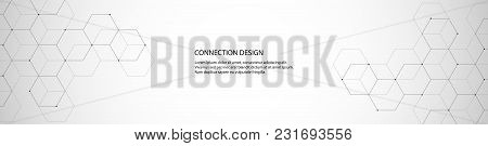 Vector Banner Design With Hexagons Abstract Background