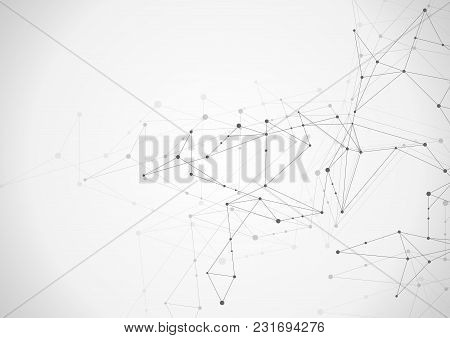 Abstract Connection Background With Lines And Dots.
